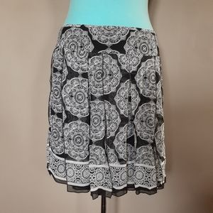 White house black market silk panel skirt